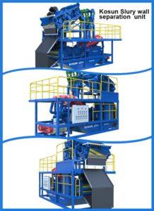 slurry wall separation unit