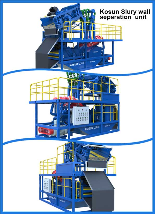 slurry wall separation unit