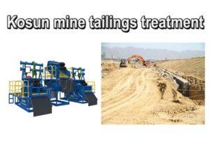 mine tailings treatment